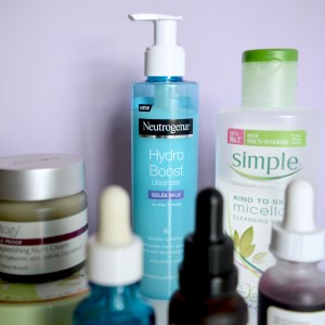 Neutrogena Hydro Boost clenaser (Skincare Shake Up - full skincare routine for rosacea, sensitive skin)