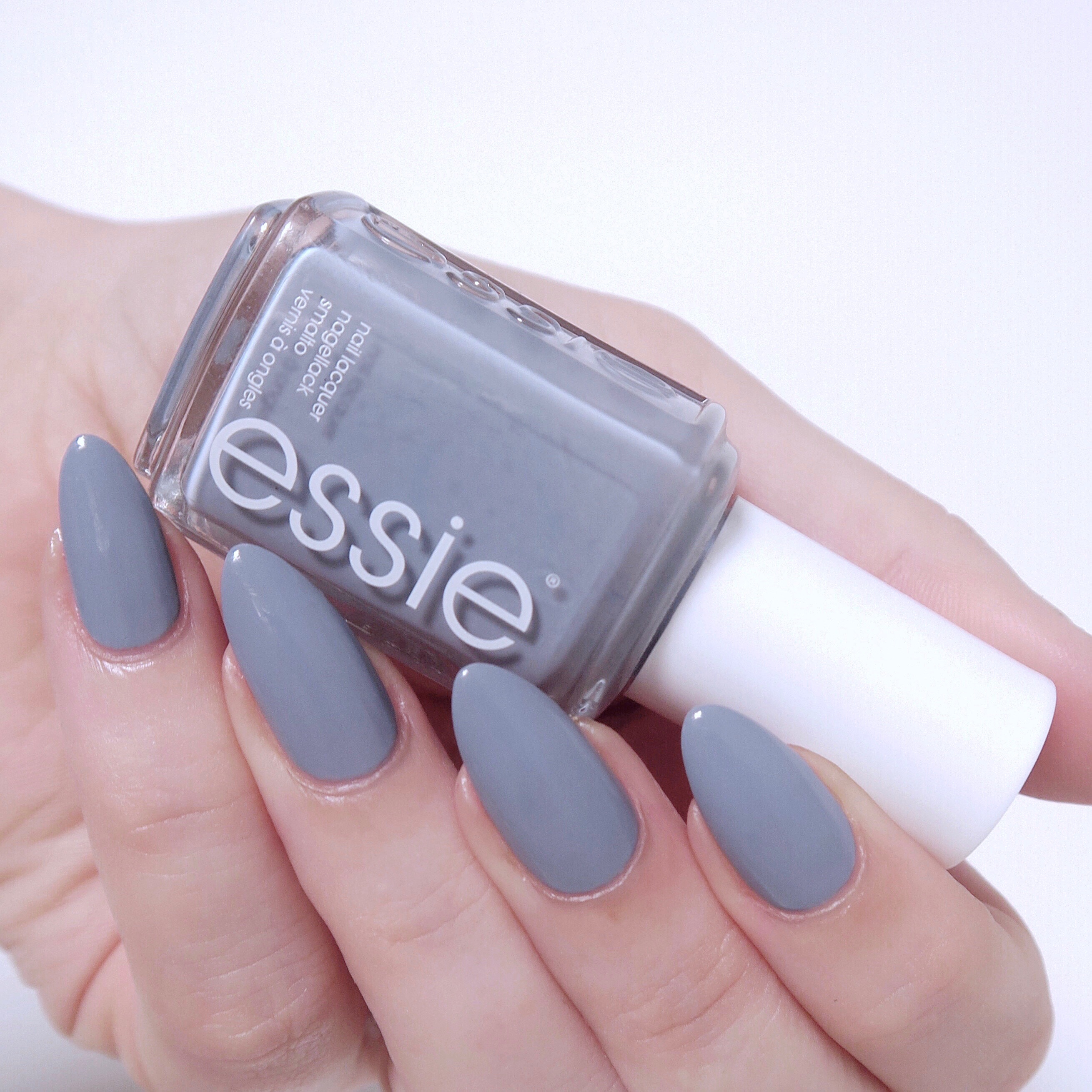 My favourite winter polishes - essie 'cocktail bling', a cult essie polish. It's the perfect blend of blue and grey. The dream cool-toned polish.