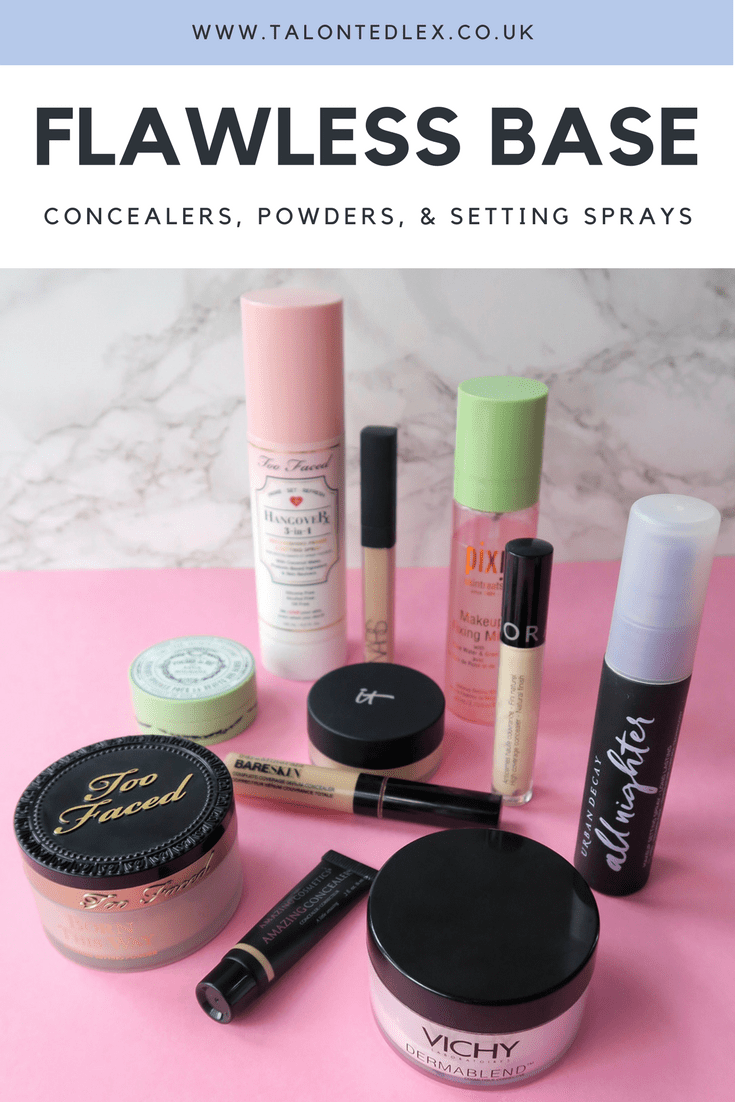 How to achieve a flawless base (even if you have skin issues): My favourite concealers, powders, and setting sprays.