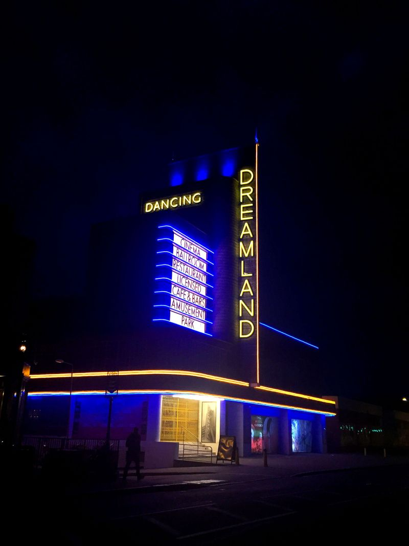 Margate Dreamland - retro neon, vintage seaside town