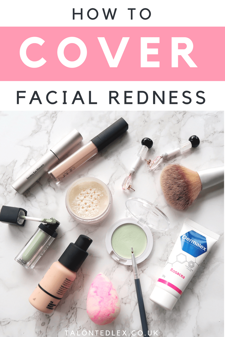 How to cover broken veins and facial redness #rosacea
