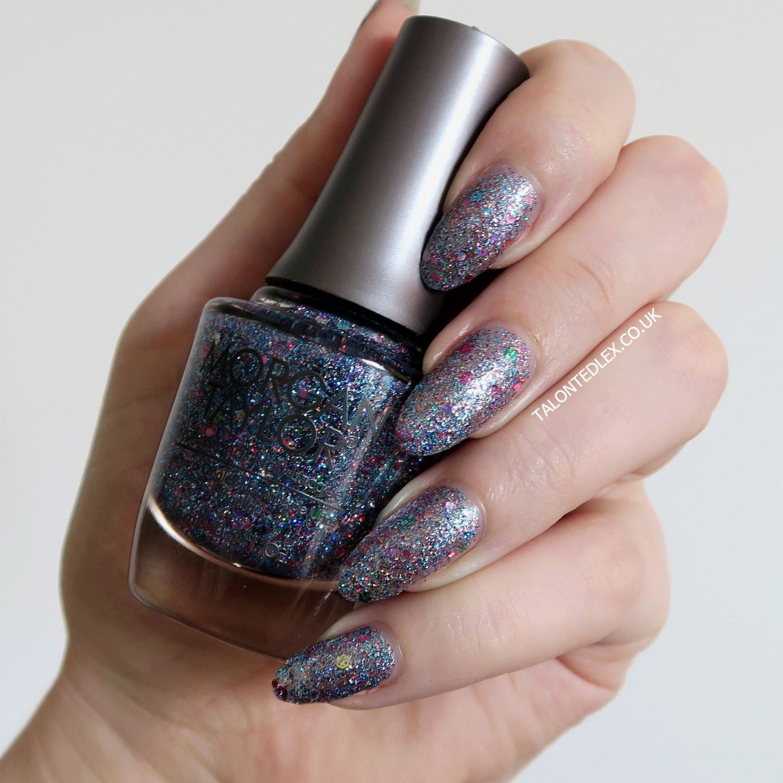 Repin and click to see the full Morgan Taylor Rocketman collection, including 'Bedazzle Me' - a beautiful glitter top coat. New Morgan Taylor nail polish range. #talontedlex #morgantaylor #glitternails