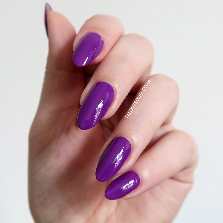 Repin and click to see the full Morgan Taylor Rocketman collection, including 'Just Me & My Piano' - a purple creme polish. New Morgan Taylor nail polish range. #talontedlex #morgantaylor #purplenails