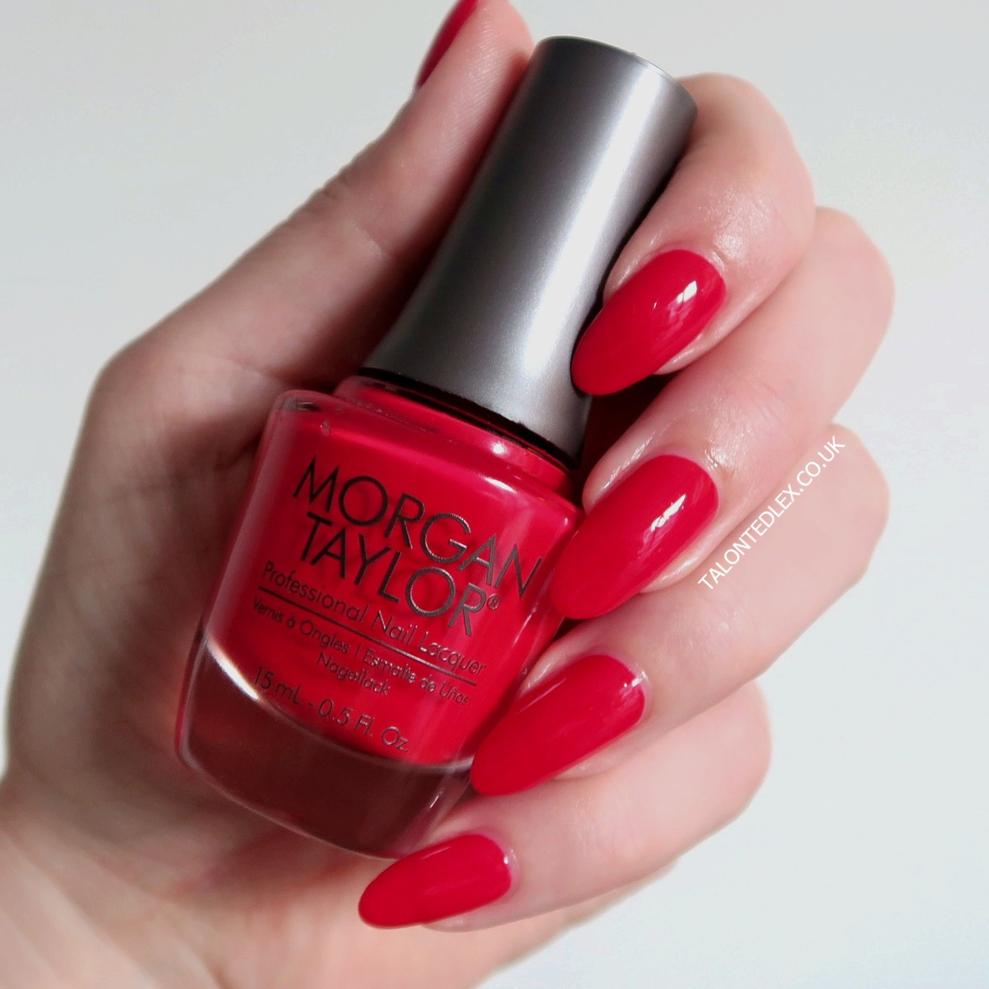 Repin and click to see the full Morgan Taylor Rocketman collection, including 'Put On Your Dancin' Shoes' - an orange-red creme polish. New Morgan Taylor nail polish range. #talontedlex #morgantaylor #rednails