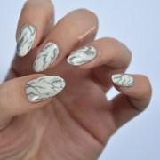 mani monday marble nail art - talonted