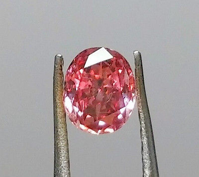 Pink Diamond - Natural Loose Fancy Deep Pink GIA Certified 0.37ct Cushion SI1