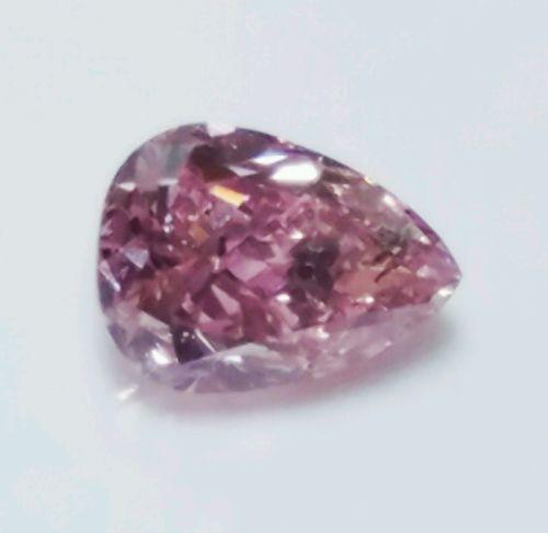 0.16ct Pink Diamond - Natural Loose Fancy Intense Pink GIA Cert Pear Cut SI1