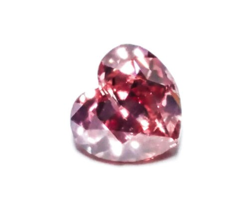 0.25ct Pink Diamond - Natural Loose Fancy Deep Pink GIA Certified Heart SI2