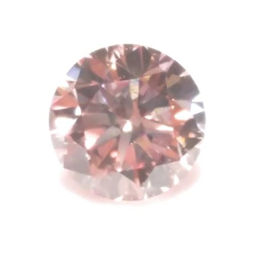 Pink Diamond - 0.19ct ARGYLE Natural Loose Fancy Light Orangy Pink GIA Round SI1