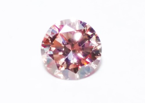 0.22ct Pink Diamond - Natural Loose Fancy Orangy Pink ARGYLE Cert GIA Round SI1
