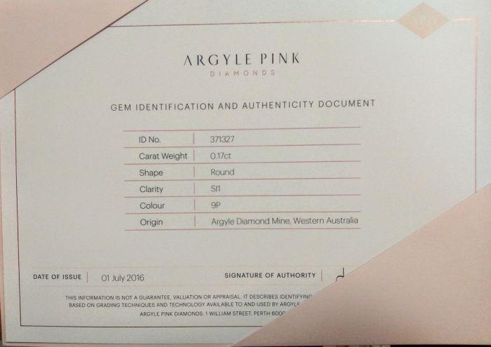 Pink Diamond - VS2 0.17ct ARGYLE Natural Loose Fancy Very Light Pink GIA Round