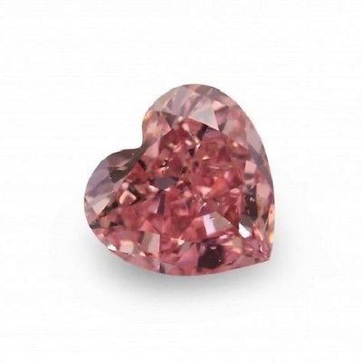 Real 0.52ct Pink Diamond - Natural Loose Fancy Deep Pink GIA Certified Heart