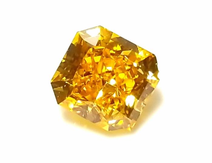 Zimi Diamond VVS2 - 0.59ct Natural Loose Fancy Vivid Orange Yellow Diamond GIA