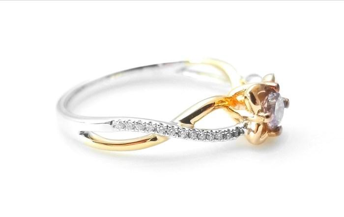 0.52ct Natural Fancy Light Pink Diamonds ARGYLE Engagement Ring GIA Round 18K VS