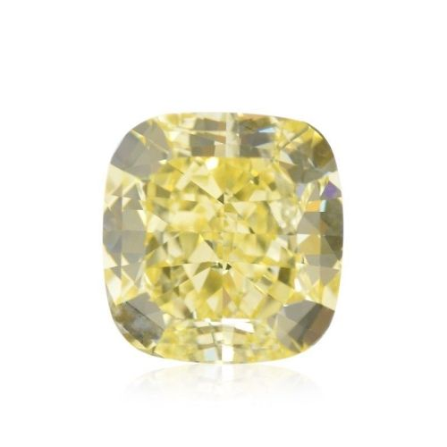 Yellow Diamond - 1.77ct Natural Loose Fancy Yellow Canary Diamond GIA Cushion