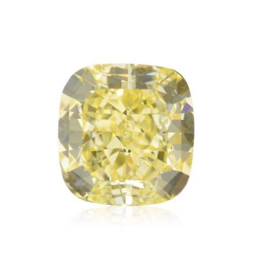 Yellow Diamond - 1.77ct Natural Loose Fancy Yellow Canary Diamond GIA Cushion