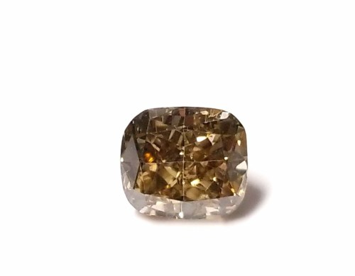 Whiskey 1.08ct Natural Loose Real Fancy Brown Diamond Cushion Cut VS1 For Ring