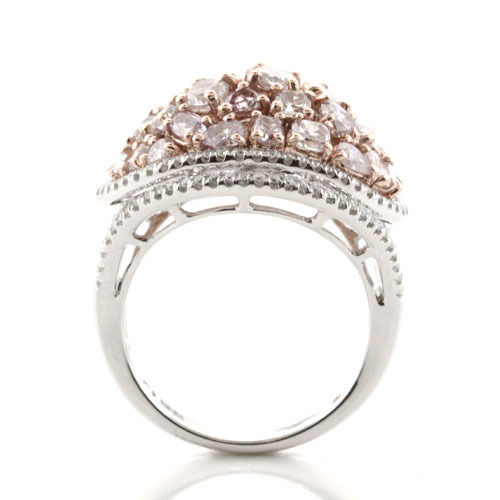 Real 4.50ct Natural Fancy Pink Diamonds Engagement Ring 18K Solid Gold 9G