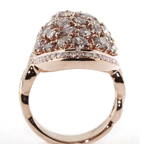 Real 5.35ct Natural Fancy Purple Diamonds Engagement Ring 18K Solid Gold 6G Big