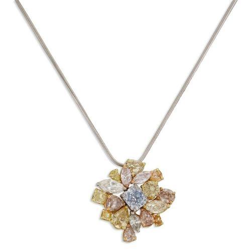 color diamonds pendant