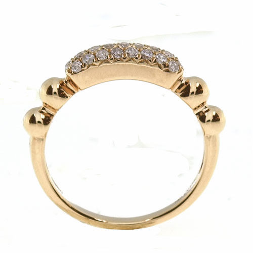 Real 0.32ct Natural Fancy Pink Diamonds Engagement Ring 18K Solid Gold Rounds