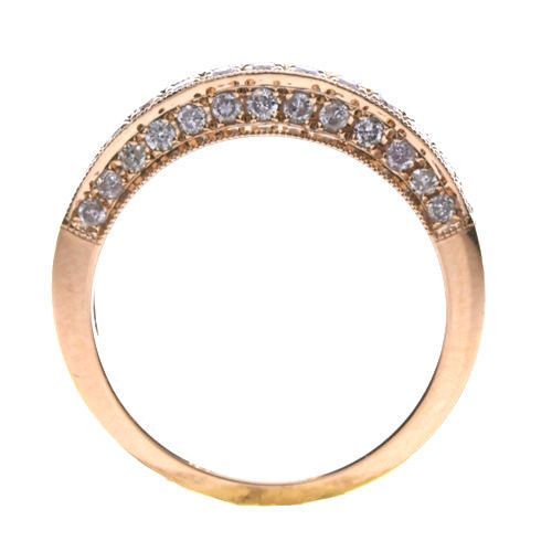Real 0.60ct Natural Fancy Pink Diamonds Engagement Ring 18K Solid Gold 6G Round