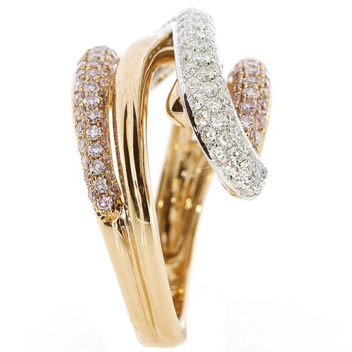 Real 1.27ct Natural Fancy Pink Diamonds Engagement Ring 18K Solid Gold 6G Band