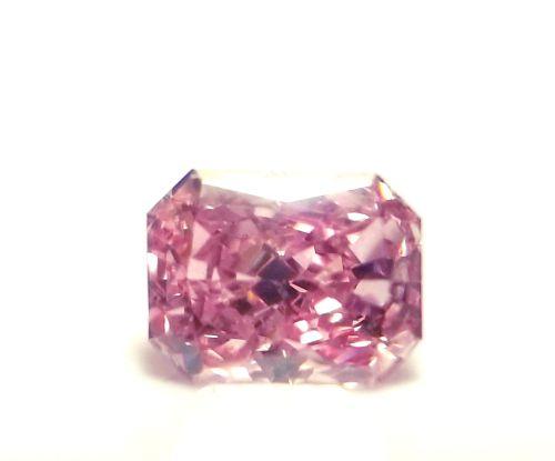 Argyle 0.37ct Natural Loose Fancy Intense Purple Pink Radiant Diamond GIA SI2 7P
