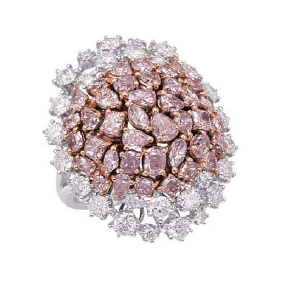 Real 8.20ct Natural Fancy Pink Diamonds Engagement Ring 18K Solid Gold 13G