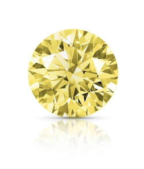 Real Diamond 1.41ct Natural Loose Fancy Yellow Color Diamond GIA VS1 Round