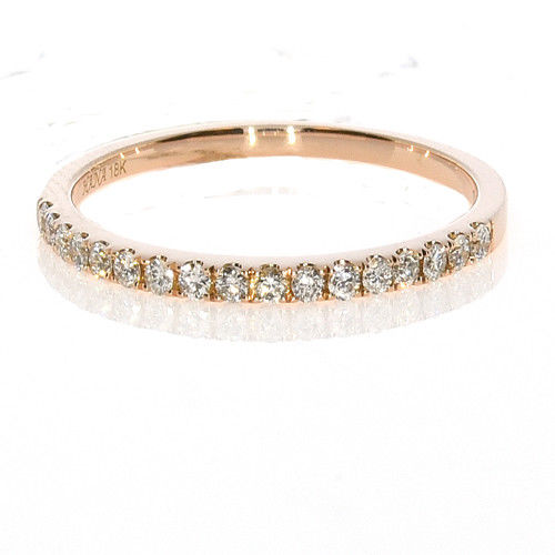 0.19ct Natural F Color Diamonds Engagement Ring Weding Band 18K Solid Gold 2G