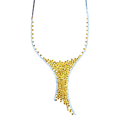 17.63ct Fancy Yellow Diamonds Necklace 18K All Natural 48G Real Gold Mix Shape