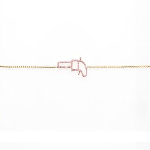 ARGYLE Pink Diamonds - Bracelet 0.20ct Natural Fancy Pink 18K 1 Grams Gun Shape