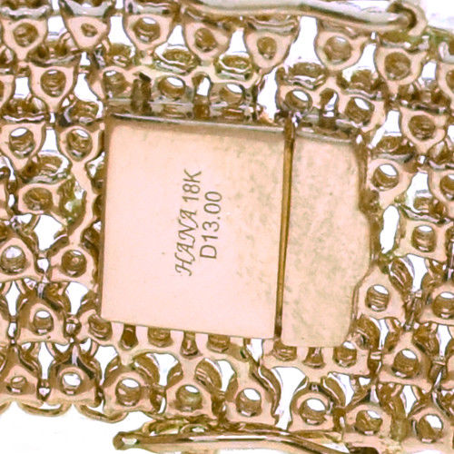 13.42ct Natural Fancy Pink Color Diamonds Tennis Bracele 18K Solid Gold 39G