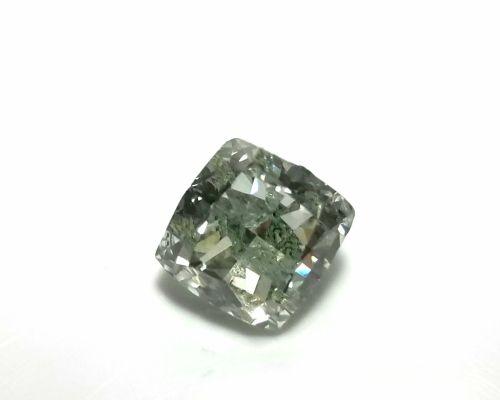 Real 1.42ct Natural Loose Fancy Green Color Cushion Diamond GIA SI Rare and Big