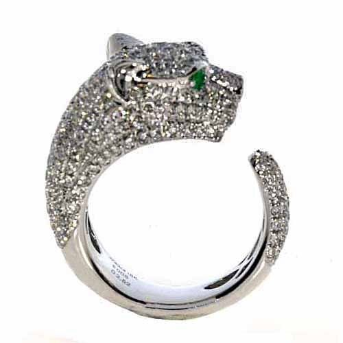 2.53ct Natural Fancy F Color Diamonds Engagement Ring 18K Solid Gold 11G Tiger