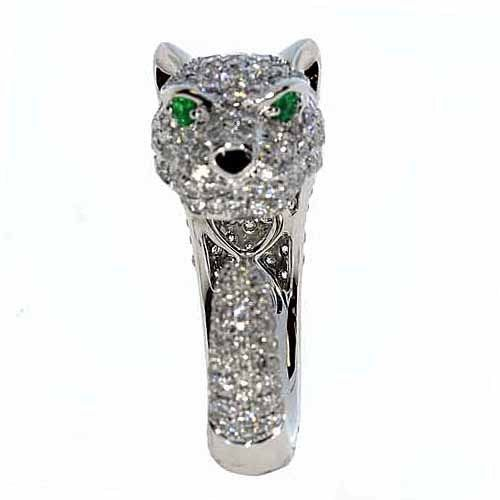 Real 2.53ct Natural G Color VS1 Diamonds Engagement Ring 18K Solid Gold Tiger