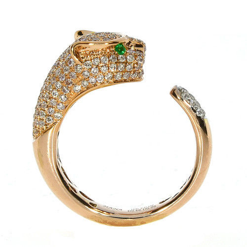 0.88ct Natural Fancy Pink Purple Diamond Engagement Ring Tiger 18K VS-SI