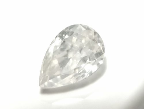 1.03ct White Diamond - Natural Loose Fancy White Color Pear SI2 NIce Tone