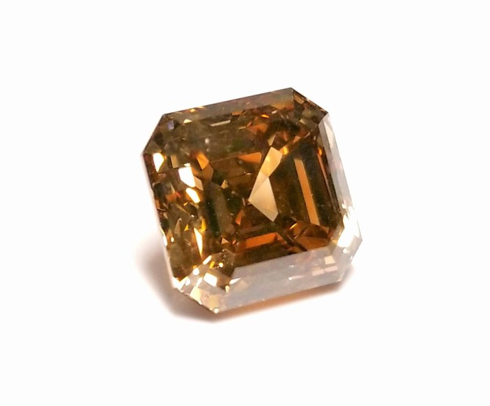 4.14ct Natural Loose Fancy Orange Brown Diamond Emerald Asscher Cut GIA Argyle