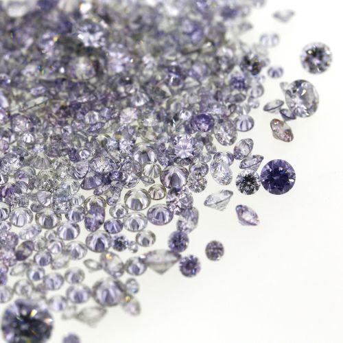 Natural Fancy Blue Grey 0.002 ct to 0.08 ct Round cut Diamonds Parcel Melles Mix