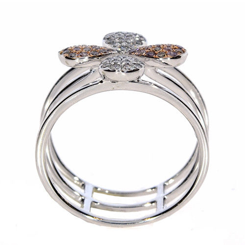 Real 0.40ct Natural Fancy Pink Diamonds Engagement Ring 18K Solid Gold 5G