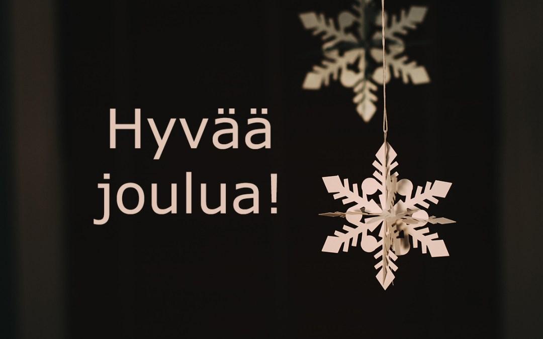 Hyvää joulua ja onnellista uutta vuotta 2019!