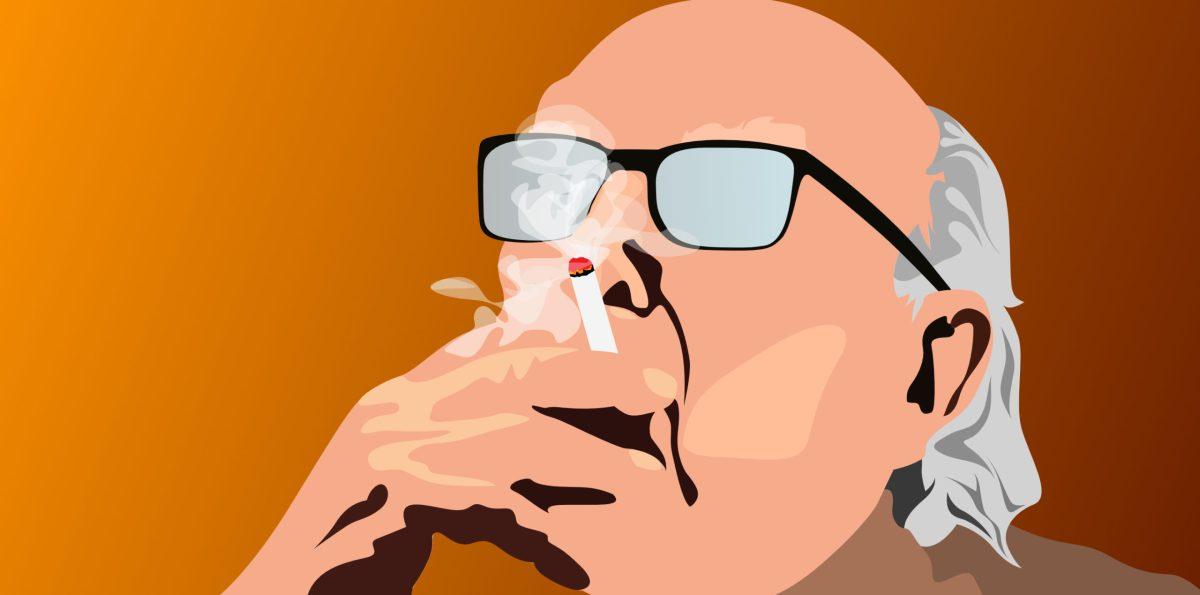 Andrea Camilleri et sa cigarette