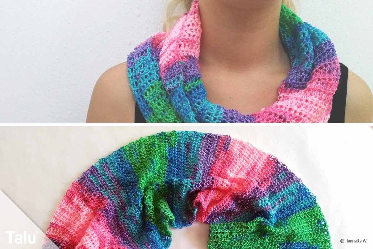 Loop Schal Für Kinder Nähen Youtube Loop Mit Ajourmuster Handmade