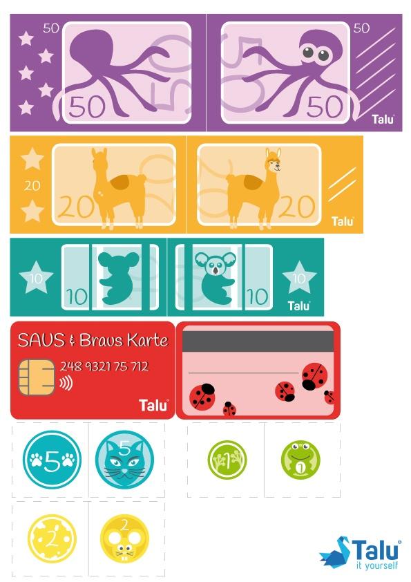 Geld Drucken Kostenlos : drucken, kostenlos, Spielgeld, Ausdrucken, Kostenlose, Vorlage, Talu.de