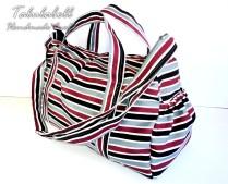 Diaper Bag 2.0 (Gray Stripes)