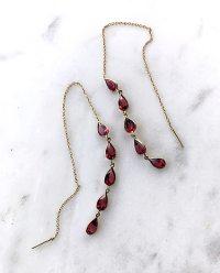 garnet threader earrings - talulah.cooper