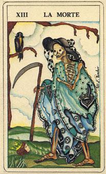 菲爾比斯塔羅牌 - Fiabeschi Tarot - 死神 - Death - 塔羅牌圖片精選