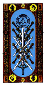 階梯塔羅牌 - Stairs Tarot - 寶劍九 - Nine Of Swords - 塔羅牌圖片精選